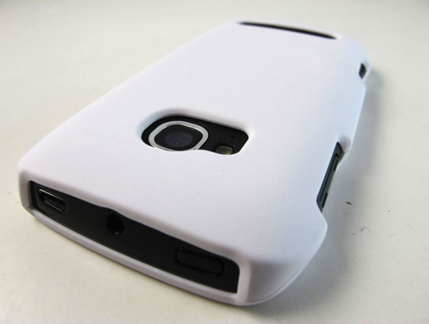 WHITE RUBBERIZED HARD SHELL CASE COVER NOKIA LUMIA 710 TMOBILE PHONE