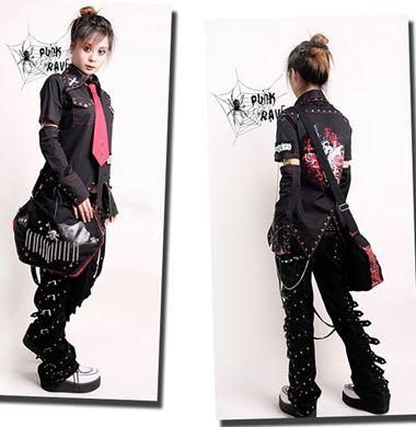 VISUAL KEI PUNK rave gothic Japan Kera Pants Trousers