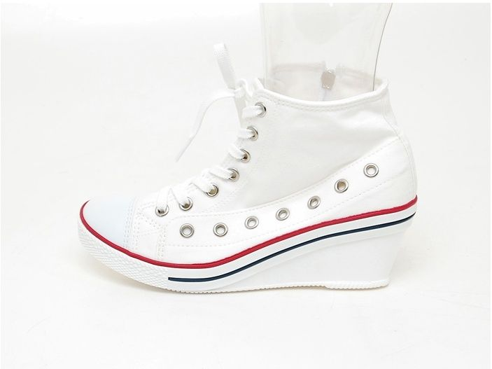 wedge heel high top sneakers tennis shoes boots