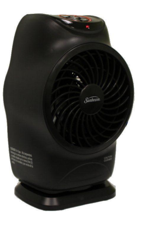 SFH613 LCD Electric Fan Forced Portable Heater Oscillation Black