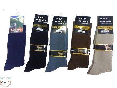 12 BOYS Merino Wool Blend Dress SOCKS sz 2 8 NAVY