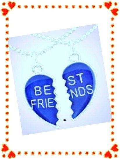 NewSet Best Friends Hearts Mood Necklaces Reveals moods